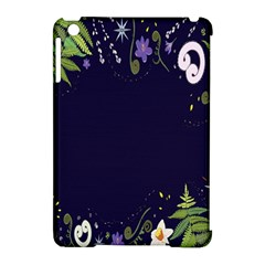 Spring Wind Flower Floral Leaf Star Purple Green Frame Apple iPad Mini Hardshell Case (Compatible with Smart Cover)