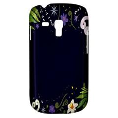 Spring Wind Flower Floral Leaf Star Purple Green Frame Galaxy S3 Mini