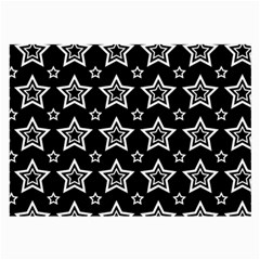 Star Black White Line Space Large Glasses Cloth (2-Side)
