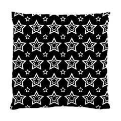 Star Black White Line Space Standard Cushion Case (One Side)