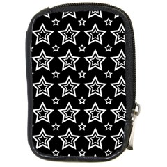 Star Black White Line Space Compact Camera Cases