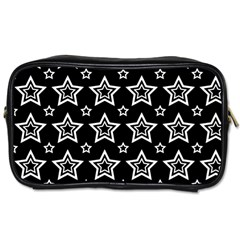 Star Black White Line Space Toiletries Bags 2-Side