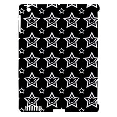Star Black White Line Space Apple iPad 3/4 Hardshell Case (Compatible with Smart Cover)