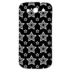 Star Black White Line Space Samsung Galaxy S3 S III Classic Hardshell Back Case