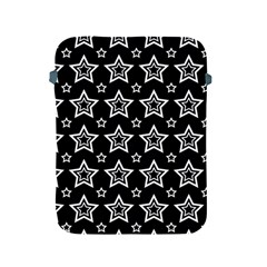 Star Black White Line Space Apple iPad 2/3/4 Protective Soft Cases
