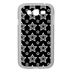 Star Black White Line Space Samsung Galaxy Grand DUOS I9082 Case (White)