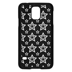 Star Black White Line Space Samsung Galaxy S5 Case (Black)