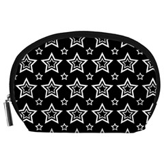 Star Black White Line Space Accessory Pouches (Large)