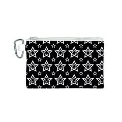 Star Black White Line Space Canvas Cosmetic Bag (S)
