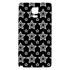 Star Black White Line Space Galaxy Note 4 Back Case
