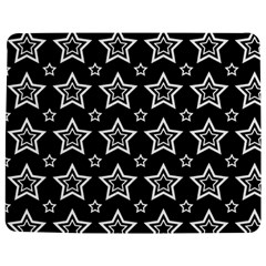 Star Black White Line Space Jigsaw Puzzle Photo Stand (Rectangular)