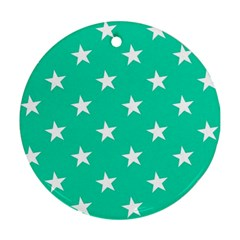 Star Pattern Paper Green Ornament (Round)