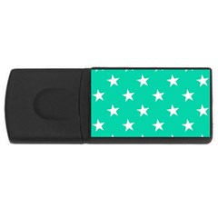 Star Pattern Paper Green USB Flash Drive Rectangular (2 GB)