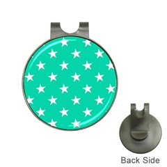 Star Pattern Paper Green Hat Clips with Golf Markers