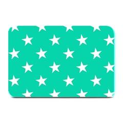 Star Pattern Paper Green Plate Mats