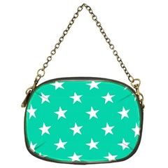 Star Pattern Paper Green Chain Purses (One Side)