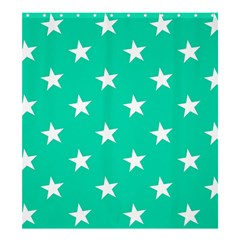 Star Pattern Paper Green Shower Curtain 66  x 72  (Large)