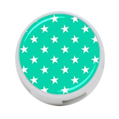 Star Pattern Paper Green 4-Port USB Hub (Two Sides)