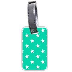 Star Pattern Paper Green Luggage Tags (Two Sides)