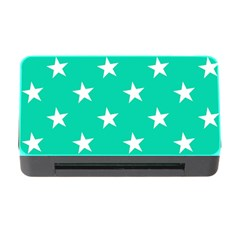 Star Pattern Paper Green Memory Card Reader with CF