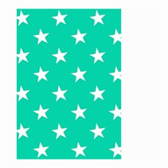 Star Pattern Paper Green Small Garden Flag (two Sides)