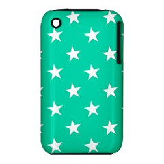 Star Pattern Paper Green iPhone 3S/3GS