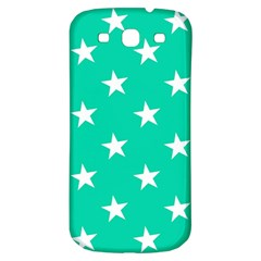 Star Pattern Paper Green Samsung Galaxy S3 S III Classic Hardshell Back Case