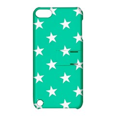 Star Pattern Paper Green Apple iPod Touch 5 Hardshell Case with Stand