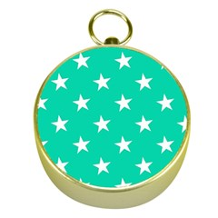 Star Pattern Paper Green Gold Compasses