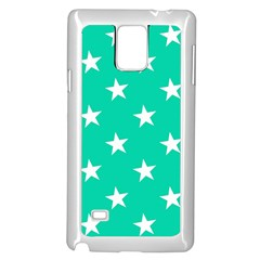 Star Pattern Paper Green Samsung Galaxy Note 4 Case (White)