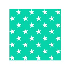 Star Pattern Paper Green Small Satin Scarf (Square)