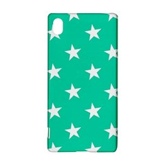Star Pattern Paper Green Sony Xperia Z3+