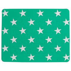 Star Pattern Paper Green Jigsaw Puzzle Photo Stand (Rectangular)
