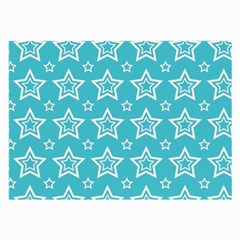 Star Blue White Line Space Sky Large Glasses Cloth (2-Side)