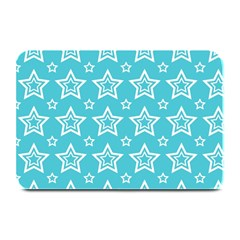 Star Blue White Line Space Sky Plate Mats