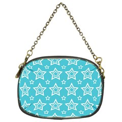 Star Blue White Line Space Sky Chain Purses (One Side)
