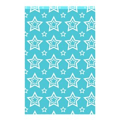Star Blue White Line Space Sky Shower Curtain 48  x 72  (Small)