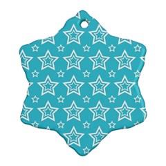 Star Blue White Line Space Sky Ornament (Snowflake)