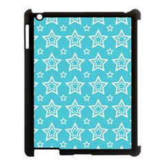 Star Blue White Line Space Sky Apple Ipad 3/4 Case (black)