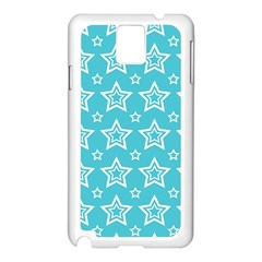 Star Blue White Line Space Sky Samsung Galaxy Note 3 N9005 Case (White)