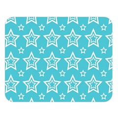 Star Blue White Line Space Sky Double Sided Flano Blanket (Large)