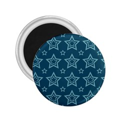 Star Blue White Line Space 2.25  Magnets