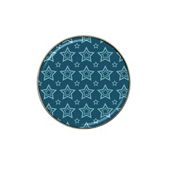 Star Blue White Line Space Hat Clip Ball Marker