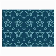 Star Blue White Line Space Large Glasses Cloth