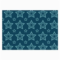 Star Blue White Line Space Large Glasses Cloth (2-Side)