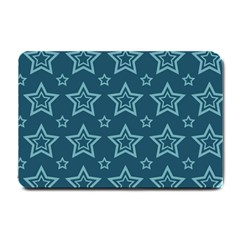 Star Blue White Line Space Small Doormat