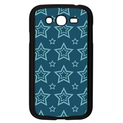 Star Blue White Line Space Samsung Galaxy Grand Duos I9082 Case (black)