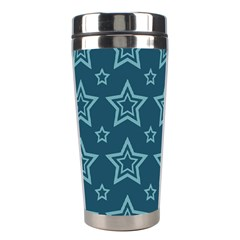 Star Blue White Line Space Stainless Steel Travel Tumblers