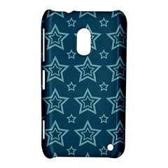 Star Blue White Line Space Nokia Lumia 620
