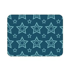 Star Blue White Line Space Double Sided Flano Blanket (Mini)
